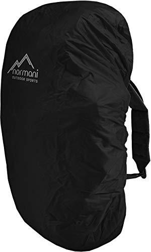 normani wasserdichter Regenueberzug Raincover Regenhülle für Backpacks Rucksack Farbe Schwarz Größe 60-70 Liter