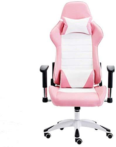 Home Küche Schlafzimmer Home Computer Stuhl Home Office Stuhl Wohnzimmer Liege E-Sport Stuhl Bequemer Lift Boss Stuhl Hocker, der entspannt werden kann Study Schreibtisch Stuhl (Farbe: Pink Größe: