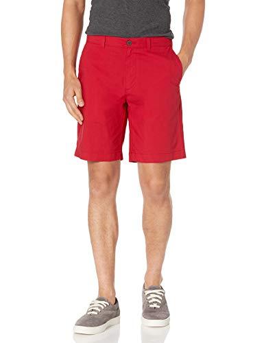 """Amazon Essentials Men's Slim-Fit Lightweight Stretch 9"""" Short Shorts, -Red, 32"""