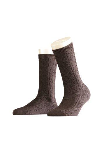 Falke - Calcetines opacas para mujer, talla 39-40, color Marrón oscuro 5239