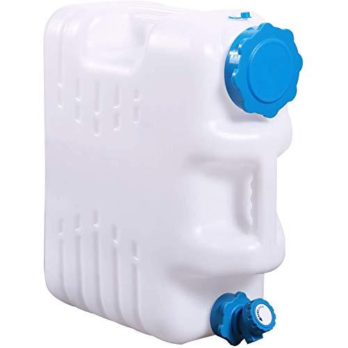 adad Campinggeschirr-Wasserkanister 2-teiliger Camping-Wasserbehälter Für Den Außenbereich Mit Wasserhahn 10,5 L 16 L 18,5 L 25 L Tragbarer Wasserspeicher (Color : White, Size : 18.5L)