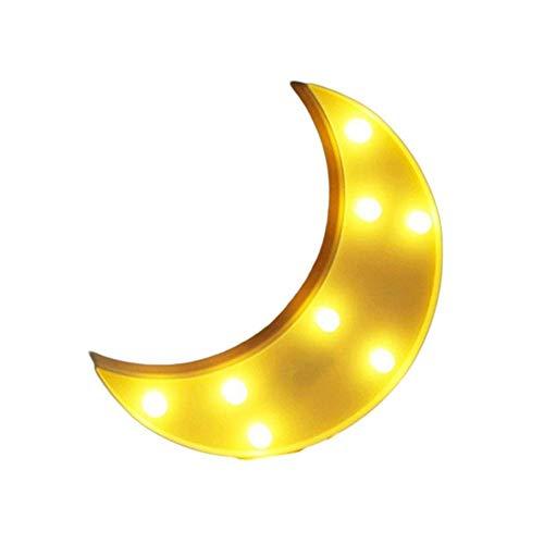 AOK DOOR Veilleuse LED Enfant Veilleuse De Nuit Bebe Accueil Décoration Lumières pour Mur Veilleuses pour Enfants Lampes pour La Maison Décoration Moon Yellow