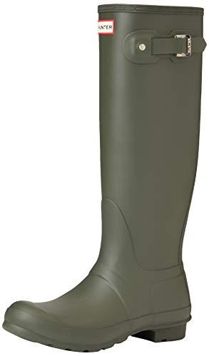Hunter High Wellington Boots, Botas de Agua Mujer, Verde (Dark Green/dov), 42...