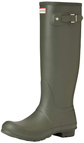 Hunter High Wellington Boots, Botas de Agua para Mujer, Verde (Dark Green/dov), 39 EU