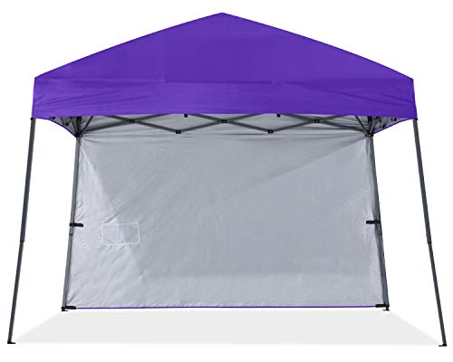 ABCCNAOPY Outdoor Pop Up Canopy Beach Camping Canopy with 1 Sun Wall, Bonus Backpack Bag, Stakes and Ropes