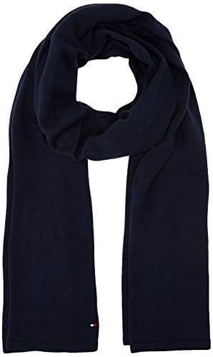 Tommy Hilfiger Damen FLAG KNIT SCARF Schal, Blau (Blue Cjm), One Size (Herstellergröße:OS)