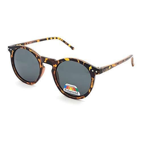 KISS Gafas de sol POLARIZADO estilo MOSCOT mod. WAVE Johnny Depp - fashion cult VINTAGE hombre mujer REDONDO unisex - LA HABANA V1