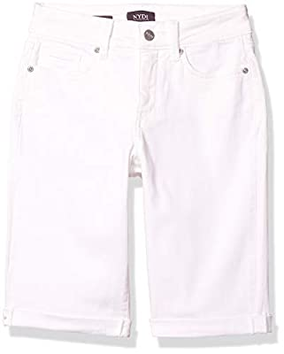 NYDJ Women's Briella ROLL Cuff Jean Short, Optic White, 12