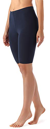 Merry Style Damen Kurze Leggings aus Viskose MS10-145 (Dunkelblau, XXL)
