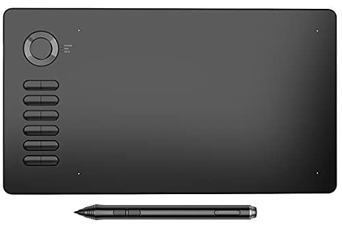 Xyfw Tableta De Dibujo Tableta De Lápiz Gráfico De 10X6 Pulgadas con Lápiz Óptico Pasivo Sin Batería 12 Teclas De Acceso Directo Área De Dibujo Ultra Grande
