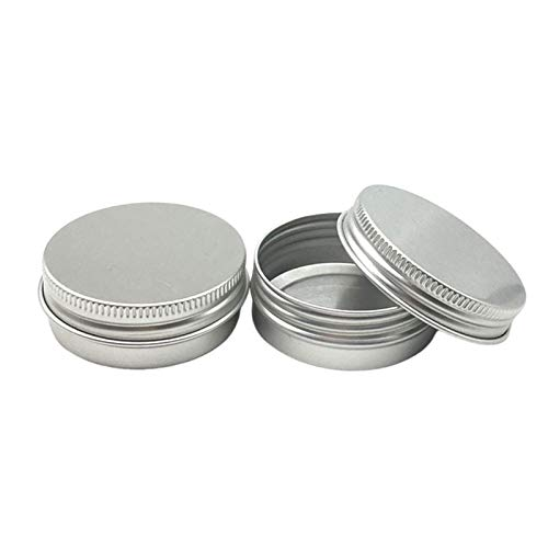 MHXY Mini-Flaschen 50 stücke 30g Aluminiumgläser 1oz Silber Aluminium Creme Gläser 30ml Aluminium Zinnbehälter 30 ml Aluminiumdose Dose Geteilte Flasche (Specifications : 30g 52X20mm)