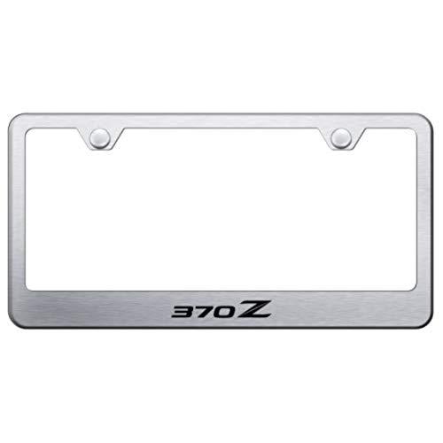 Nissan 370Z (Stylized Z) Laser Etched Brushed Stainless Frame Met Satin / Brush License Plate Frame