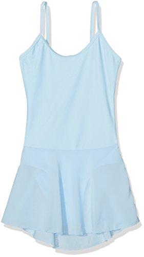 Sansha - E508M - Aida - Leotardo de Danza para niña, Color Azul Celeste, tamaño 120 cm