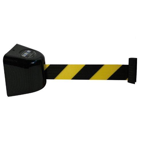 RS-GUIDELINE Gurtband Wandkassette GLW 425 - 5 m - Absperrsystem - Verschiedene Farbvarianten, Farbe:gelb/schwarz