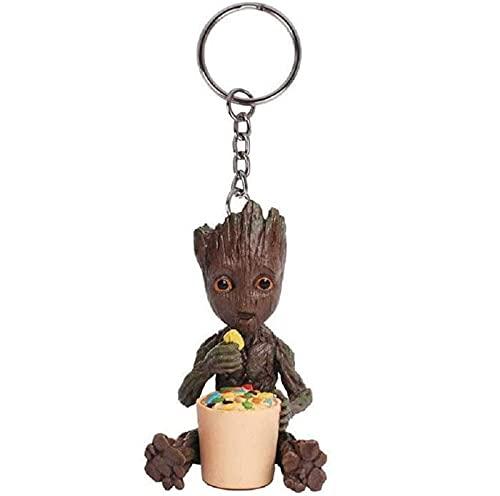 MATECam Groot Figurine d'action Les Gardiens de la Galaxie Mignon Porte-clés Jouets Meilleur Cadeau (Type 3)