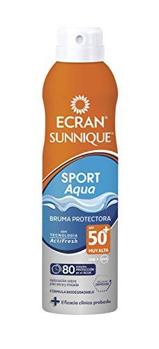 Ecran Sunnique SPORT Wet Skin, Bruma Solar para Deportistas con SPF50 - 250 ml