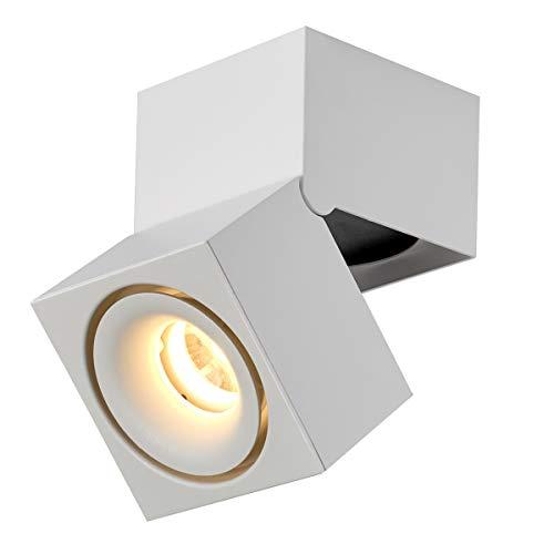 Dr.lazy 15W LED Aufbauleuchte Deckenleuchte,Deckenspots, wandleuchten,Deckenfluter,Deckenstrahler,DeckenLampe,Deckenbeleuchtung,Falten Drehen Aufputz Deckenleuchte,Aluminium,10x10x15CM (Weiß-3000K)