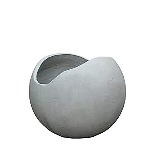 Jardinera Redonda de hormigón de Fibra de Vidrio - Moderna - Canterano / 30x37cm