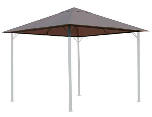 QUICK STAR - Tetto sostitutivo per gazebo da giardino, 250 g, 3 x 3 m, colore: grigio talpa/beige RAL 7006