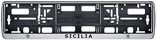 Auto Kennzeichenhalter Sizilien Italien Fahne Flagge 2 Stück