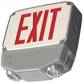 Outdoor/Wet Location Exit Sign Combination - All LED - Universal Mount - UL Listed
