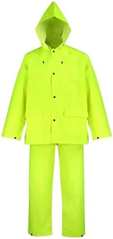 Rain suit Polyester Detroit Mall 3xl Yellow 3pc Detroit Mall