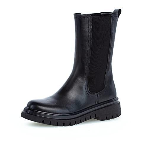 Gabor Damen Chelsea Boots, Frauen Stiefeletten,Wechselfußbett,Best Fitting,uebergangsstiefel,Schlupfstiefel,warm,schwarz (schwarz),39 EU / 6 UK