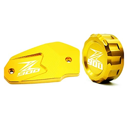 HDDTW Tapas De Gasolina Decorativas Más Calientes para Kawasaki Z800 Series CNC Motocicleta Líquido De Freno Delantero Tapa De Cilindro Maestro Tapa De Depósito De Freno (Color : Oro)