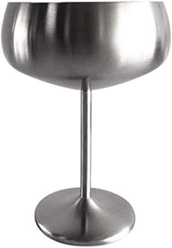 WQF Verres à vin en Acier Inoxydable gobelets à Champagne 450ML jus de Boissons Tasses pour Bars Restaurant Pub KTV Accessoires (Or Rose)