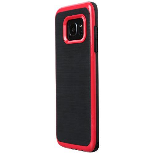 Ultratec Funda protectora de TPU / carcasa para Samsung S7 y S7 edge con diseño de contrastes y borde de color