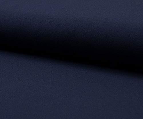 Leichtes elastisches Mischgewebe (Scuba Light) als Meterware zum Nähen von Baby, Kinder- und Damenkleidung, 50 cm. (Marine)