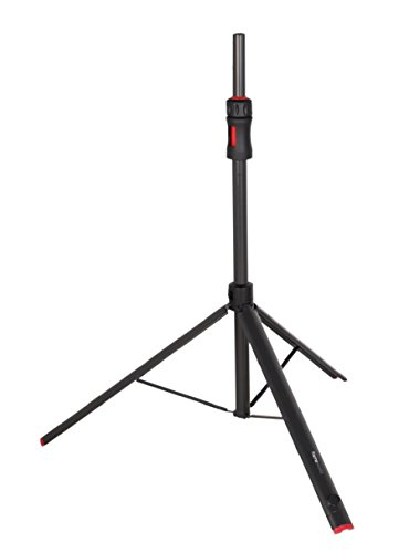 """Gator Frameworks ID Series Speaker Stand with Lift Assist and Adapter to Fit 35mm and 38mm Speaker Mounts; 48""""/75"""" Min/Max Height (GFW-ID-SPKR)"""
