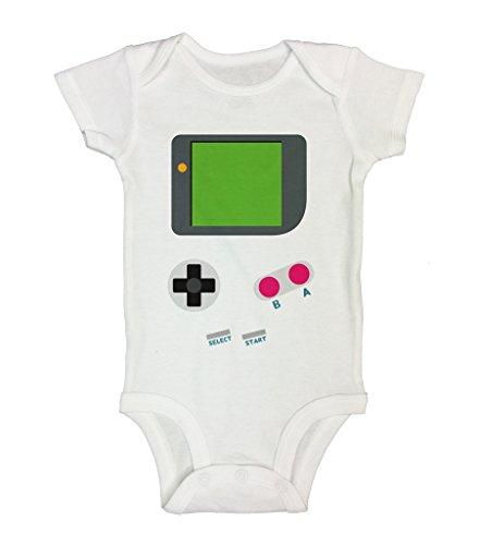 Cute Baby Bodysuit' Vintage Gameboy' Funny Shirts Bodysuits - Little Royaltee 18-24 Months, White