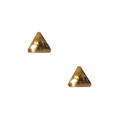 Erstohrstecker Chirurgenstahl vergoldet Sterile Ohrstecker Ohrringe mit Dreieck 4mm