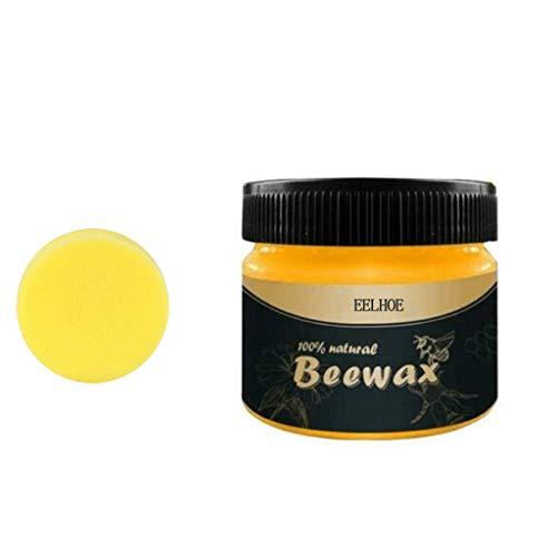 HUHUI Beewax-Möbelpflege Bienenwachs Abriebfest Holzpflege Bienenwachs Heimwerker Poliert Beewax For Furniture Care Covering Scratches 1 Schwamm (1 Beewax + 1 Schwamm)