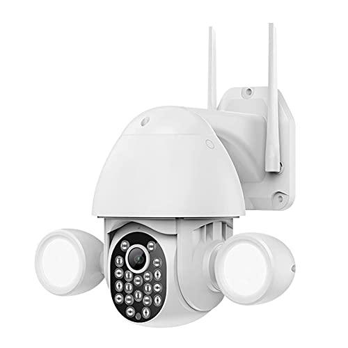 OCYE Cámara De Seguridad WiFi Inalámbrico para Exteriores, Pantalla De Alta Definición De 3mp, Audio E Iluminación Bidireccionales, Función De Seguimiento Y Advertencia Automático, WiFi De 24g