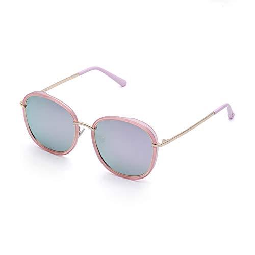 AHAQ Gafas de Sol de Moda, polarizador Neutro, protección UV, Adecuado para Conducir, Pescar, Esquiar,Rosado