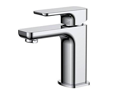 AQUA-BAGNO E1 Waschtischarmatur Einhebelmischer Wasserhahn Mischbatterie chrom ohne Ablaufgarnitur