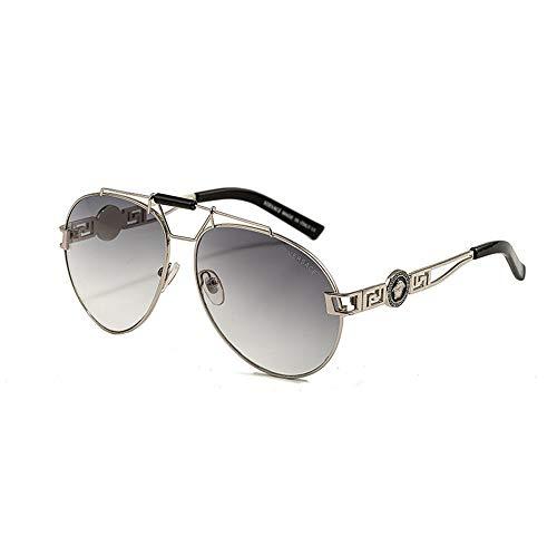 DKEE Gafas de Sol UV400 Retro Gafas Gafas De Sol Señoras Gafas De Sol Moda Rana Espejo