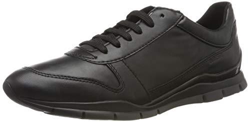 Geox Damen D Sukie C Sneaker, Schwarz (Black C9999), 41 EU