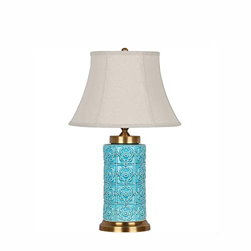 GYYlucky nieuwe Chinese keramische tafellamp koper slaapkamer bedlampje woonkamer studie Chinese stijl vaas lamp