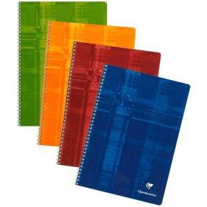 Clairefontaine 5 x Spiralbuch A4 kariert 90 Blatt farbig Sortiert