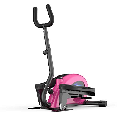 BXU-BG Cubierta Máquina de pérdida de peso adulto casa rodante paso a paso Mini basculador de la carrera en cinta Pequeño aparatos de gimnasia Aparato de gimnasia (color: rosa, Tamaño: los 58cm * 25cm