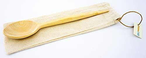 Prime24H Bio - Cuchara mediana (madera natural, ecológica, fabricación artesanal)