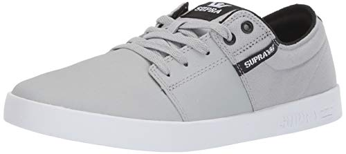 Supra Stacks II, Zapatillas Unisex Adulto, Gris Lt Grey Tuf White 056, 41 EU