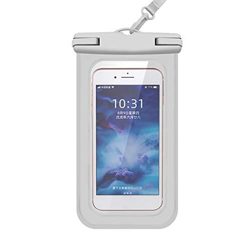 LGLG La funda impermeable flotante y la funda impermeable evitan que el agua penetre en el teléfono al jugar y nadar en la playa (blanco).