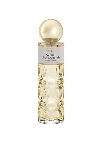 PARFUMS SAPHIR Cool - Eau de Parfum con Vaporizador para Mujer, Fresh, 200 Mililitros