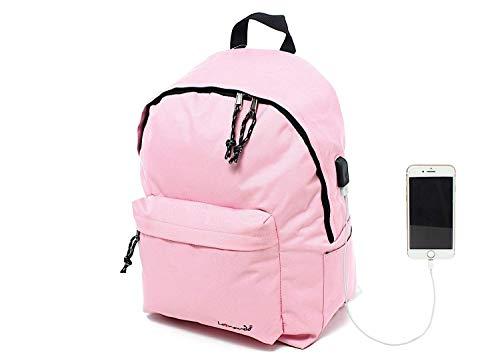 """Leonardo Mochila Classic School con candado, acolchada para tableta, iPad, puerto para PC, computadora, MacBook 15 """". Carga USB a prueba de agua, para trabajo, universidad, escuela, mar, viajes"""