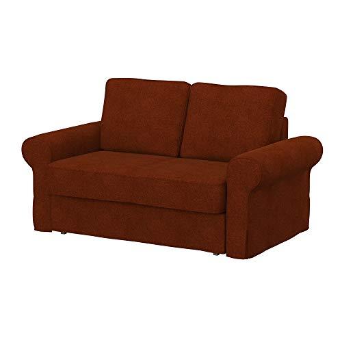 Soferia Funda de Repuesto para IKEA BACKABRO sofá Cama de 2 plazas, Tela Strong Copper, Naranja