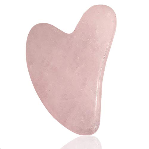 Crystu Rose Quartz Gua Sha Stone Scraping Massage Tool